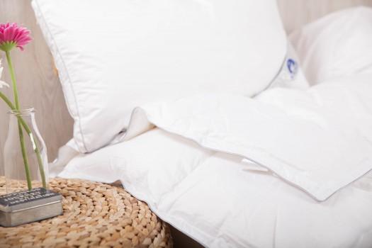 Edredón nórdico y almohada de plumón / pluma